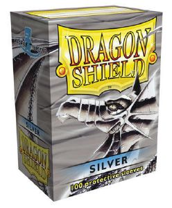 100 Protective Sleeves Dragon Shield Classic Silver