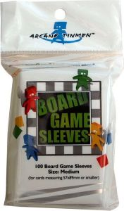 100 Board Game Sleeves - Large Size 59*92 mm