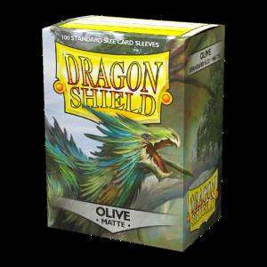 Boite de 100 Protective Sleeves Dragon Shield Matte Olive